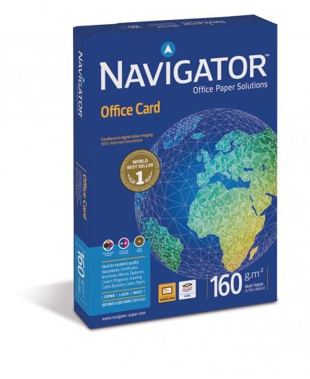 Popierius NAVIGATOR Office Card, 160 g/m2, A4, 250 lapų