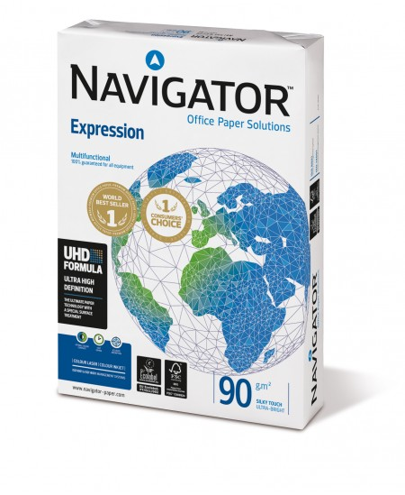 Popierius NAVIGATOR Expression, 90 g/m2, A4, 500 lapų