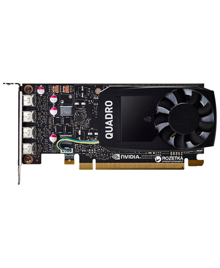 Dell NVIDIA, 4 GB, Quadro P1000, GDDR5, PCI Express 3.0, 4 mDP