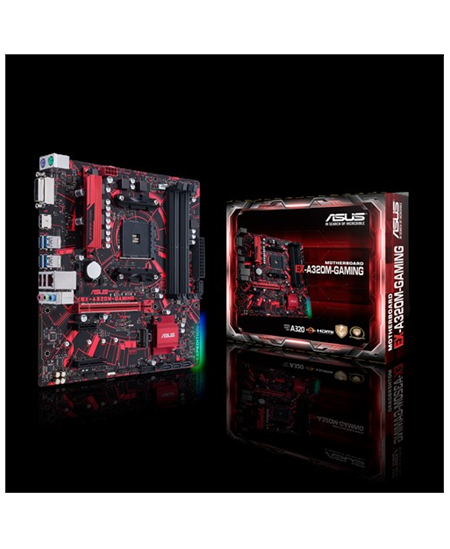 Asus EX-A320M-GAMING Processor family AMD, Processor socket AM4, DDR4, Memory slots 4, Chipset AMD A, Micro ATX