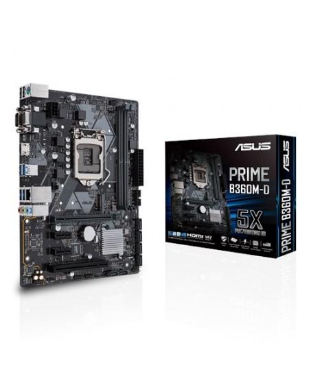 Asus PRIME B360M-D Processor family Intel, Processor socket LGA1151, DDR4, Memory slots 2, Chipset Intel B, Micro ATX