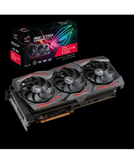Asus ROG-STRIX-RX5700-O8G-GAMING AMD, 8 GB, Radeon RX 5700, GDDR6, PCI Express 4.0, Processor frequency 1725  MHz, Memory clock