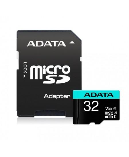 ADATA Premier Pro UHS-I U3 32 GB, microSDHC, Flash memory class 10, Adapter