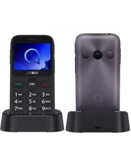 """Alcatel 2019G  Metallic, 2.4 """", 240 x 320 pixels, 1 MB, 16 MB, Singe SIM, Bluetooth, Main camera 2 MP, 970 mAh"""