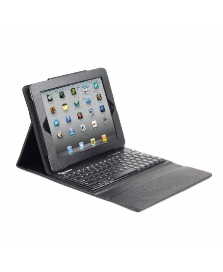 Gembird TA-KBT97-001 Black, Keycase, Bluetooth keyboard, US layout, for iPad