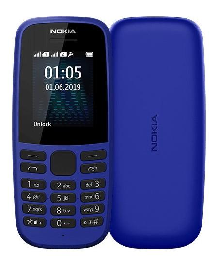 """Nokia 105 (2019) TA-1174 Blue, 1.77 """", TFT, 120 x 160 pixels, 4 MB, 4 MB, Dual SIM, USB version microUSB"""