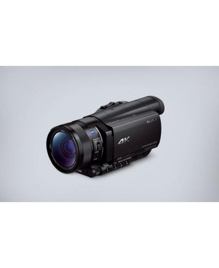 "Sony FDR-AX100E 3840 x 2160 pixels, Digital zoom 160 x, Black, LCD, Image stabilizer, BIONZ X, Optical zoom 12 x, 8.89 "", H"