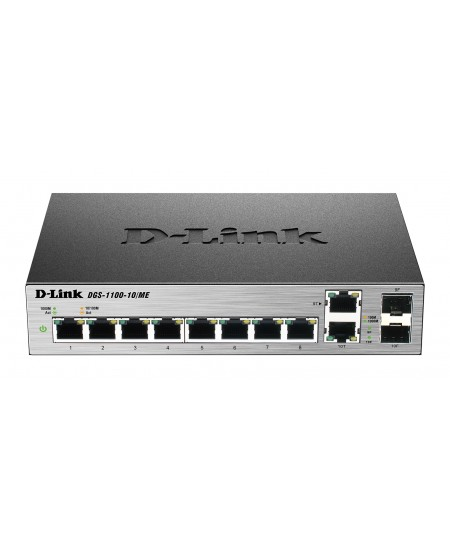 D-Link Metro Ethernet Switch DGS-1100-10/ME Managed L2, Desktop, 1 Gbps (RJ-45) ports quantity 8, Combo ports quantity 2, Power