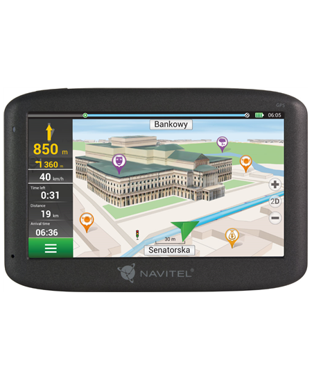 "Navitel Personal Navigation Device F150 5"" touchscreen, Maps included, GPS (satellite)"