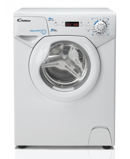 Candy Washing machine AQUA 1042D1-S Front loading, Washing capacity 4 kg, 1000 RPM, A+, Depth 46.3 cm, Width 51 cm, White, LED,