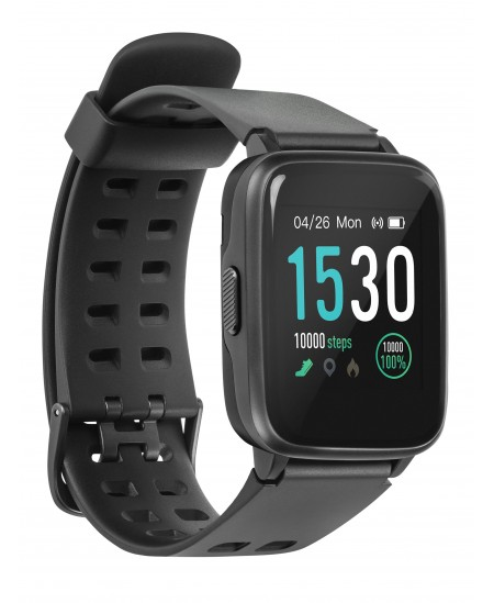 Acme Smart Watch SW202G IPS, 2.5D Gorilla Glass, Space grey, Touchscreen, Bluetooth, Heart rate monitor