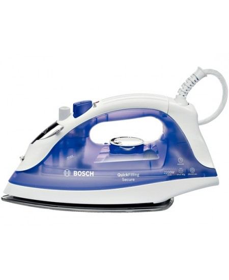 Iron Bosch QuickFilling TDA2377 White/Purple, 2200 W, With cord, Continuous steam 25 g/min, Steam boost performance 90 g/min, Au
