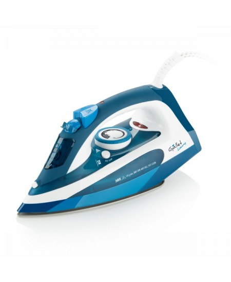Gallet GALFAR370 Blue/ white, 2400 W, Steam iron, Continuous steam 40 g/min, Steam boost performance 130 g/min, Anti-drip functi