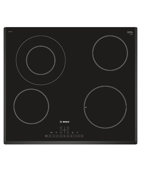 Bosch Hob PKF651FP1E Vitroceramic, Number of burners/cooking zones 4, Black, Display, Timer