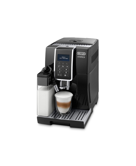 Delonghi Coffee maker DINAMICA ECAM 350.55 B Pump pressure 15 bar, Built-in milk frother, Fully automatic, 1450 W, Black