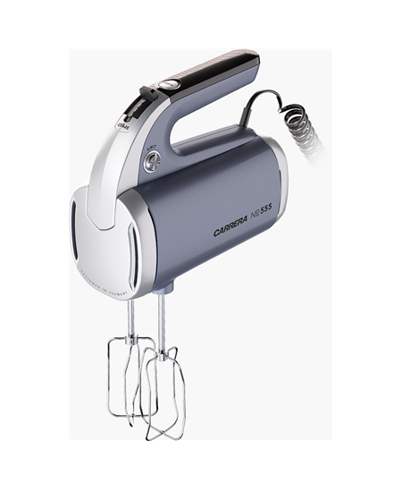 Carrera Hand mixer  No. 555 Grey, Hand mixer, 300 W, Number of speeds 4, Shaft material Stainless steel,