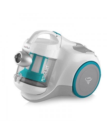 Gallet Vacuum Cleaner GALASP130 Bagless, White/ green, 850 W, 1 L, 75 dB, HEPA filtration system,