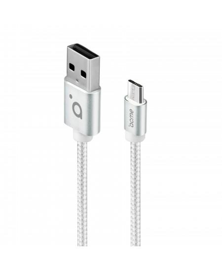 Acme Cable CB2011S 1 m, Silver, Micro USB, USB A