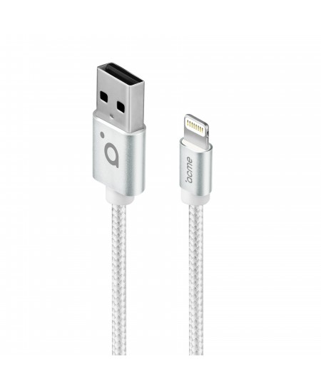 Acme Cable CB2031S 1 m, Silver, Lightning, USB A