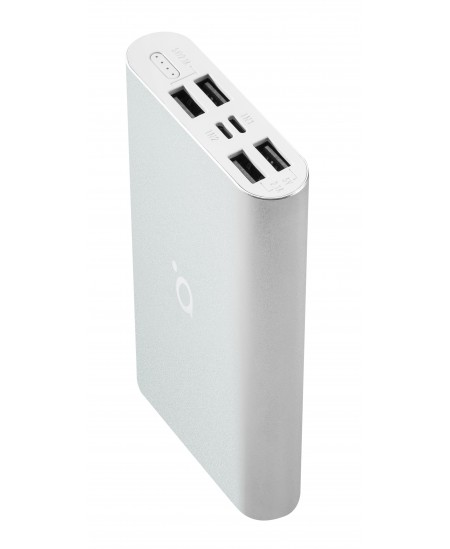 Acme Power bank PB16S 15 000 mAh, Silver, 4 USB ports, Aluminium, Li-polymer
