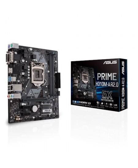 Asus PRIME H310M-A R2.0 Processor family Intel, Processor socket LGA1151, DDR4, Memory slots 2, Chipset Intel H, Micro ATX