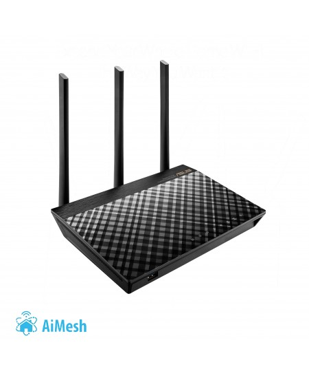 Asus Router RT-AC66U B1 802.11ac, 450+1300 Mbit/s, 10/100/1000 Mbit/s, Ethernet LAN (RJ-45) ports 4, Mesh Support Yes, 3G/4G via