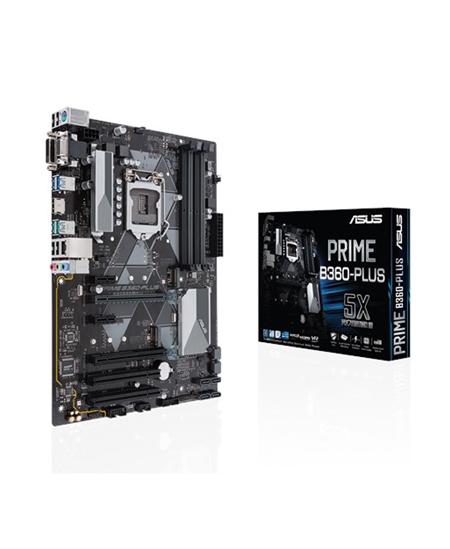 Asus PRIME B360-PLUS Processor family Intel, Processor socket LGA1151, DDR4 DIMM, Memory slots 4, Chipset Intel B, ATX