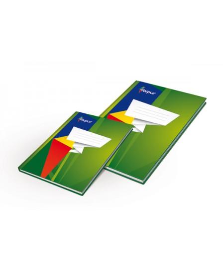 Kontorinė knyga ECO, kartoninė, 96l, A4, linijomis