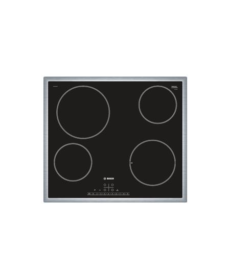 Bosch Hob PKE645FN1E Vitroceramic, Number of burners/cooking zones 4, Black, Display,