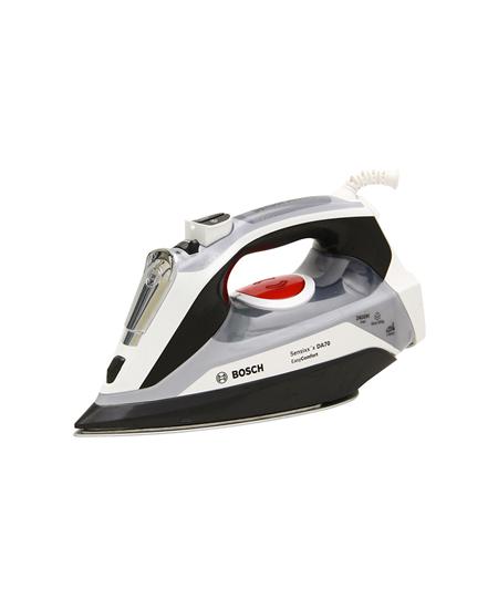 Bosch TDA70EASY Black/ grey/ white, 2400 W, Steam iron, Continuous steam 45 g/min, Steam boost performance 200 g/min, Auto power