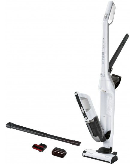 Bosch Vacuum cleaner BBH32551 Warranty 24 month(s), Battery warranty 24 month(s), Handstick 2in1, Polar white metallic, 0.4 L, C