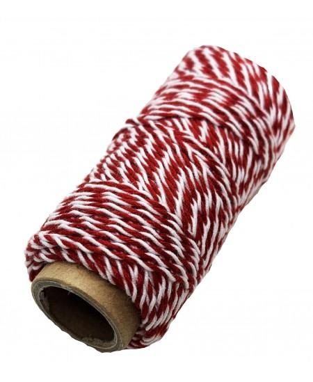 Notarinis siūlas, 35 metrai, spalva - raudona, balta