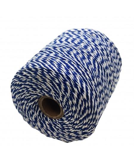 Notarinis siūlas, 350 metrų, spalva - mėlyna, balta