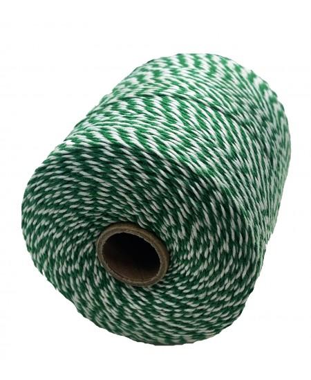 Notarinis siūlas, 350 metrų, spalva - žalia, balta