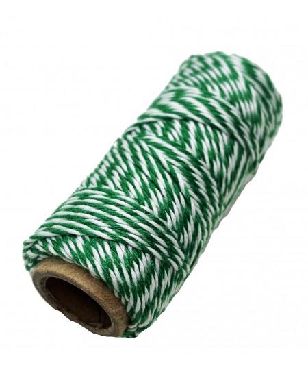 Notarinis siūlas, 35 metrai, spalva - žalia, balta