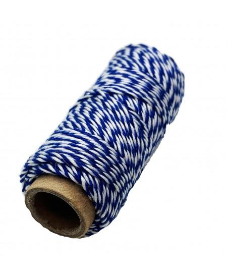 Notarinis siūlas, 35 metrai, spalva - mėlyna, balta