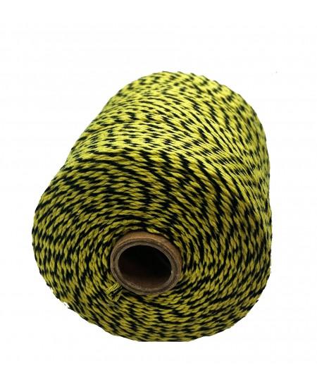 Notarinis siūlas, 350 metrų, spalva - geltona, juoda