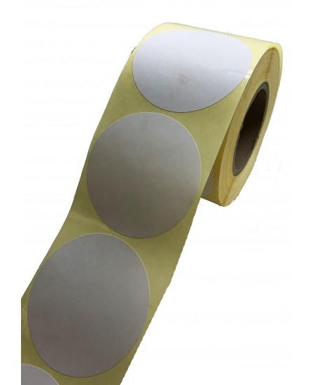 Notariniai lipdukai, 50 mm, balti, 500 vnt. rulonėlyje