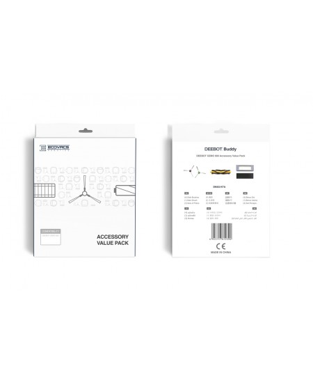 Ecovacs DEEBOT Buddy Accessory set DN5G-KTA 3x filter set, 1x main brush, 4x side brushes