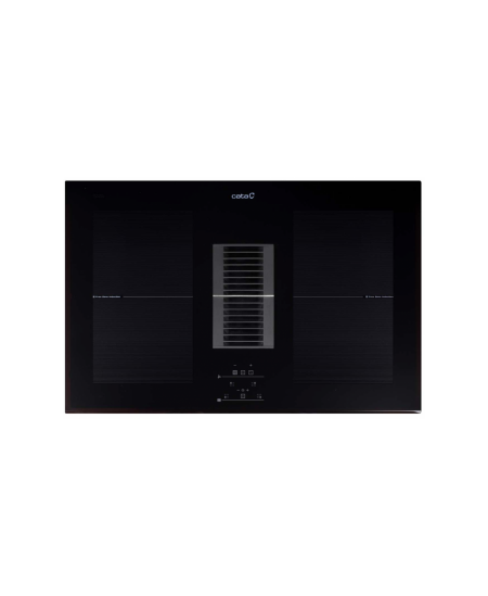 CATA AS750  Induction hob with built-in hood, Number of burners/cooking zones 4, Black, Timer