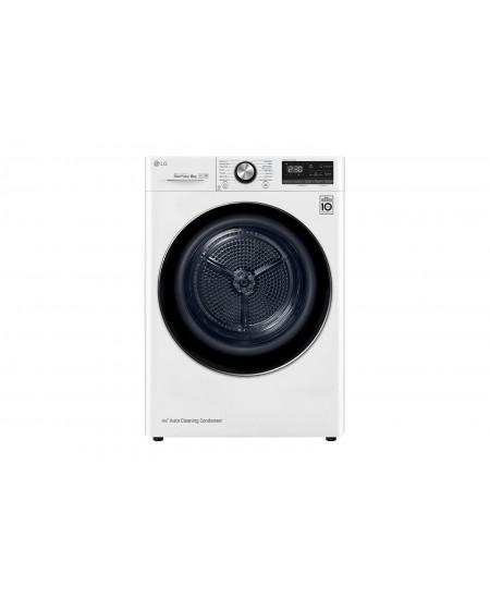 LG Dryer Machine RC80V9AV3Q Energy efficiency class A+++, Front loading, 8 kg, Heat pump, LED touch screen, Depth 69 cm, Wi-Fi,