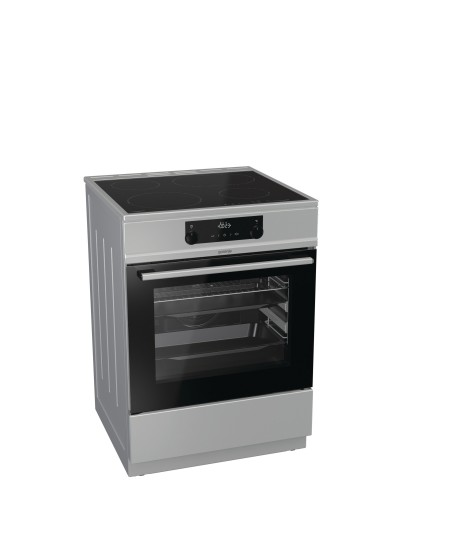 Gorenje Cooker ECT6353XPI Hob type Vitroceramic, Oven type Electric, Silver, Width 60 cm, Icon led display, 71 L, Depth 60 cm