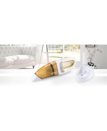ETA Vacuum cleaner  VERTO II Handheld, White/ orange, 6 W, 0.4 L, HEPA filtration system, Cordless, 9.6 V, 15 min