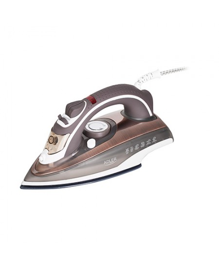 Adler Iron AD 5030 Steam Iron, 3000 W, Water tank capacity 310 ml, Continuous steam 20 g/min, Brown