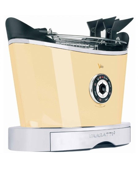 Bugatti Volo Toaster 13-VOLOC Cream, Steel, 930 W, Number of slots 2, Number of power levels 6, Bun warmer included
