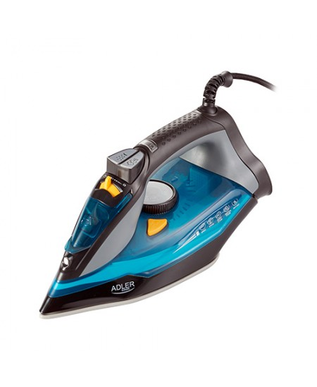 Adler Iron AD 5032 Blue/Grey, 3000 W, Steam Iron, Continuous steam 45 g/min, Steam boost performance 80 g/min, Water tank capaci