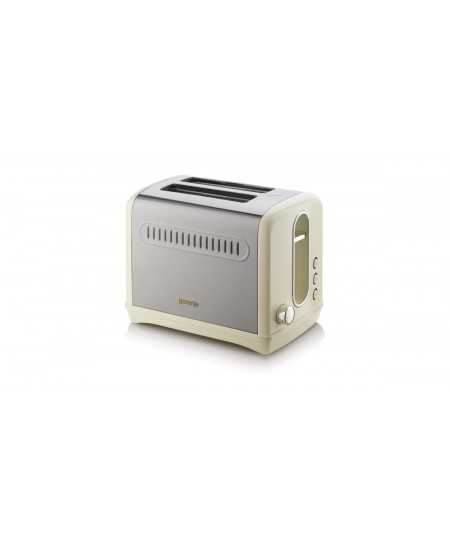 Gorenje Toaster T1100CLI Beige/ stainless steel, Plastic, metal, 1100 W, Number of slots 2, Number of power levels 6,
