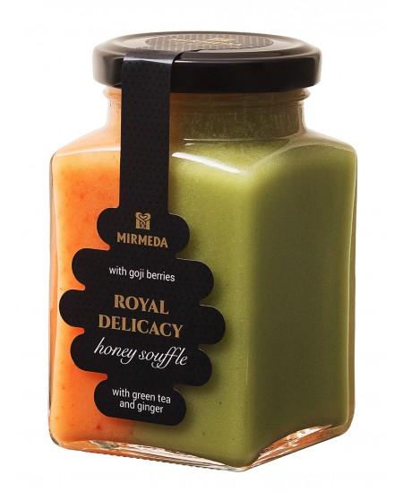 Medaus desertas su goji uogomis, žaliąja arbata ir imbieru, 340 g