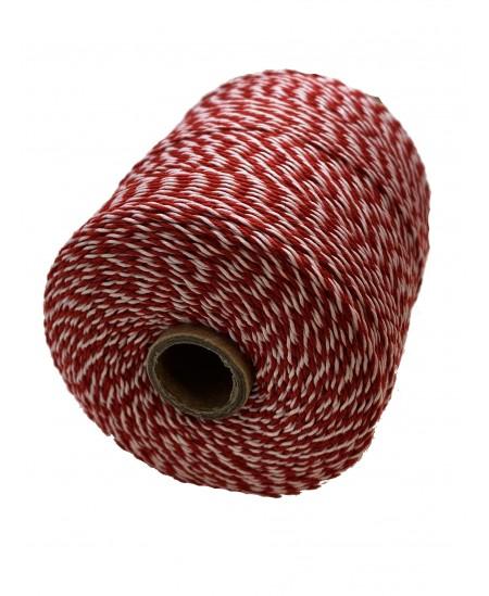 Notarinis siūlas, 350 metrų, spalva - raudona, balta