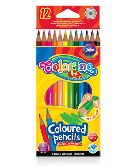 Spalvoti pieštukai COLORINO, 12 spalvų